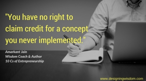 Claiming credit in Entrepreneurship