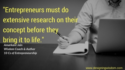 Extensive research and entrepreneurship