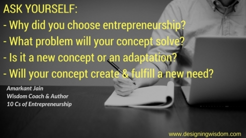 Ask the right questions - Entrepreneurship